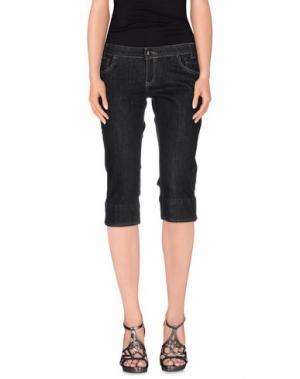 Джинсовые брюки-капри MAGILLA. Цвет: черный