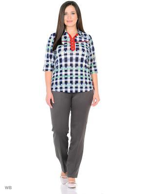 Блузка, модель Диана. Dorothy's Home. Цвет: синий, розовый, светло-желтый