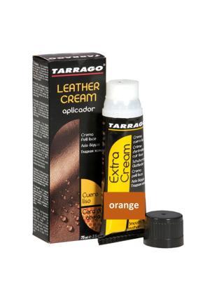 Крем тюбик с губкой Leather cream, БОЛЬШОЙ, 75мл. (orange) Tarrago. Цвет: оранжевый