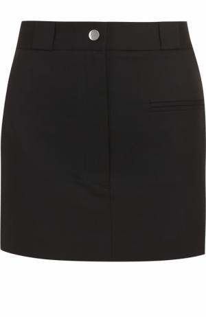 Хлопковая мини-юбка с карманами Helmut Lang. Цвет: черный