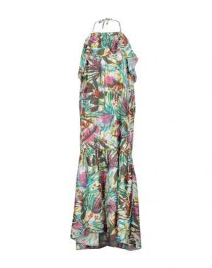 Длинное платье 100X200 CENTOXDUECENTO. Цвет: зеленый