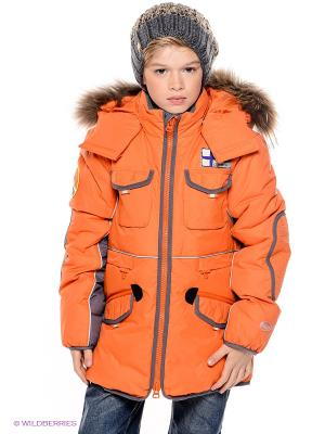 Пуховик NELS. Цвет: оранжевый