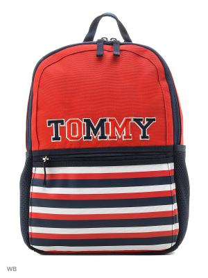 Рюкзак Tommy Hilfiger. Цвет: красный, синий