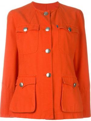 Пиджак с накладными карманами Christian Lacroix Vintage. Цвет: красный