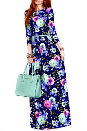 Платье FRANCESCA LUCINI. Цвет: лазурный, розовый, бегония