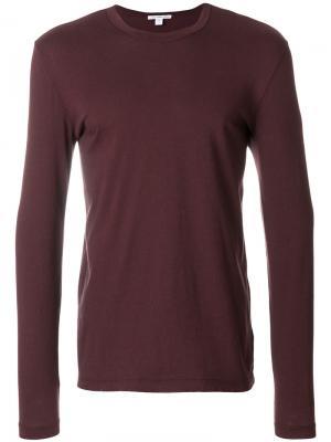 Рубашка с длинными рукавами James Perse. Цвет: красный