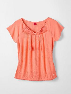Блузка S.OLIVER. Цвет: светло-коралловый