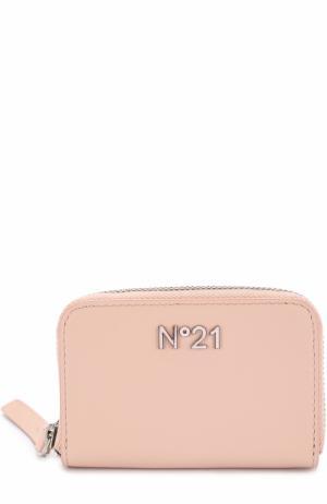Кожаный кошелек No. 21. Цвет: светло-розовый