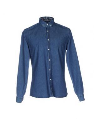 Джинсовая рубашка SAVVY CITIZEN. Цвет: синий