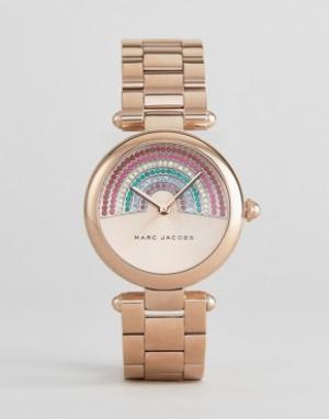 Marc Jacobs Часы с радугой из страз MJ3546. Цвет: золотой