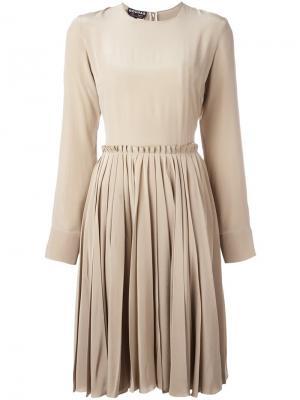 Платье с длинными рукавами Rochas. Цвет: телесный