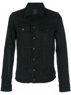 Джинсовая куртка с необработанными краями Thom Krom. Цвет: чёрный