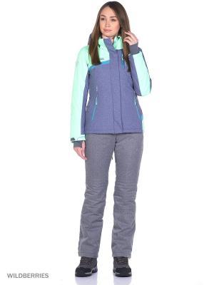 Куртка High Experience. Цвет: серо-голубой, серый, салатовый