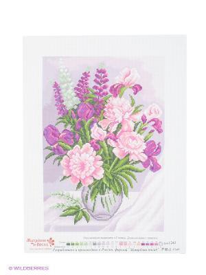 Рисунок на канве Сиреневое настроение Матренин Посад. Цвет: белый, зеленый, розовый, сиреневый
