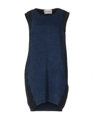 Короткое платье BRAND UNIQUE. Цвет: синий