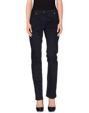 Повседневные брюки CONTE OF FLORENCE. Цвет: темно-синий