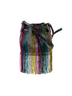 Мини-сумка Daliah с отделкой бисером Les Petits Joueurs. Цвет: чёрный