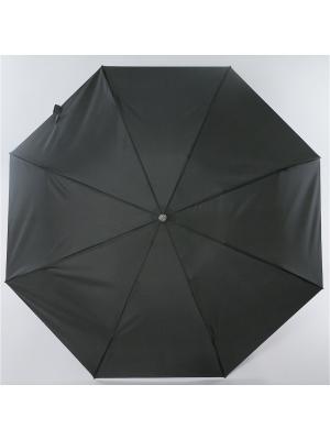 Зонт  Trust Мужской, 3 сложения, Полный Автомат, Полиэстер. Цвет: черный