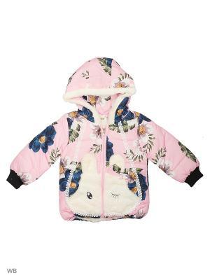 Куртка Happy Bear. Цвет: розовый, синий