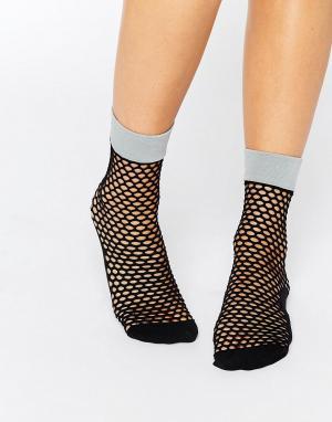 Jonathan Aston Сетчатые носки Johnathon Flash. Цвет: черный