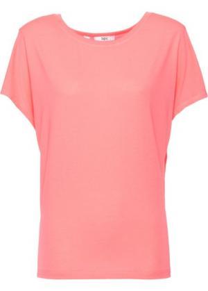 Спортивная футболка с коротким рукавом (лососевый неон) bonprix. Цвет: лососевый неон