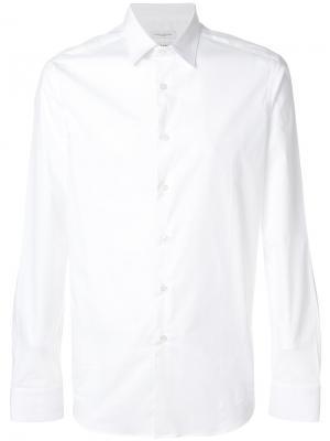 Классическая рубашка Paolo Pecora. Цвет: белый