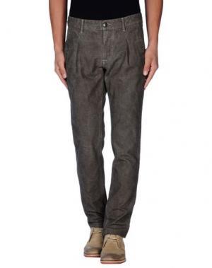 Повседневные брюки ONE SEVEN TWO. Цвет: голубиный серый
