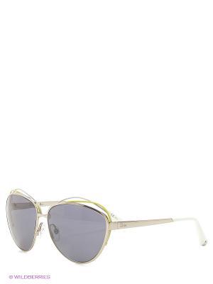Солнцезащитные очки CHRISTIAN DIOR. Цвет: серебристый, белый