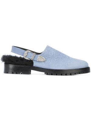 Ботинки с ремешком на пятке Toga Virilis. Цвет: синий