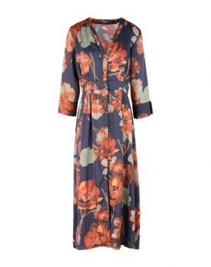 Платье длиной 3/4 DIXIE. Цвет: темно-синий