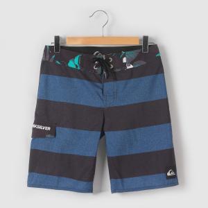Плавки-шорты с рисунком, 8 - 16 лет QUIKSILVER. Цвет: в полоску синий + красный,в полоску синий/черный
