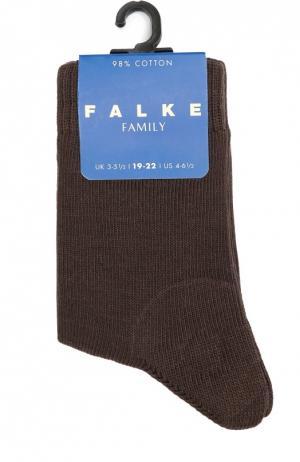 Носки из хлопка Falke. Цвет: коричневый