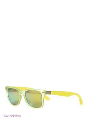 Солнцезащитные очки TOUCH. Цвет: салатовый, желтый