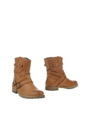 Полусапоги и высокие ботинки NO BRAND. Цвет: верблюжий