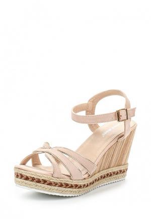 Босоножки Ideal Shoes. Цвет: бежевый