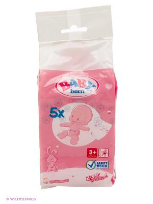 Игрушка BABY born Памперсы (5 шт.) ZAPF. Цвет: розовый