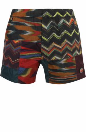 Плавки-шорты с принтом Missoni. Цвет: зеленый