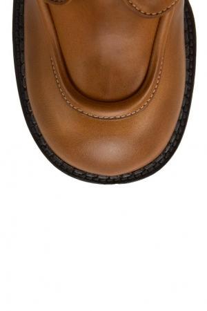 Бежевые ботинки на платформе Marc Jacobs. Цвет: золотой