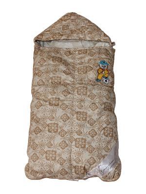 Конверт для малышей Серафимовская Пушинка. Цвет: бежевый