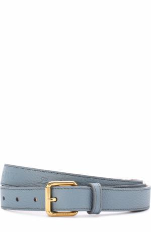 Кожаный ремень с металлической пряжкой Burberry. Цвет: голубой