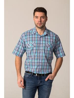 Рубашка John Jeniford. Цвет: голубой, сиреневый