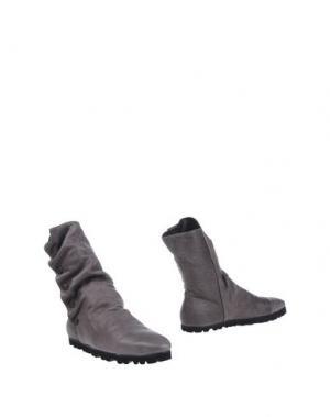 Полусапоги и высокие ботинки FESSURA. Цвет: свинцово-серый