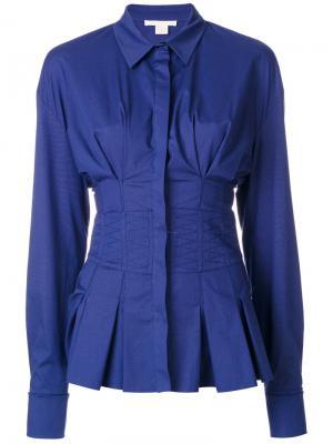 Рубашка-корсет Antonio Berardi. Цвет: синий