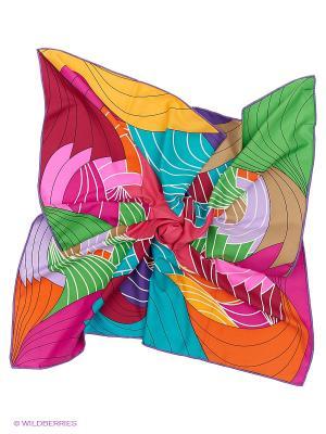 Платок Sabellino. Цвет: зеленый, бордовый, желтый, фиолетовый