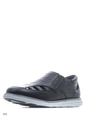 Туфли Зебра. Цвет: черный