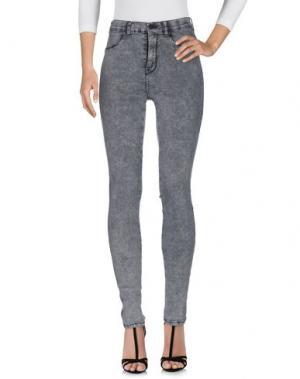 Джинсовые брюки DR. DENIM JEANSMAKERS. Цвет: серый