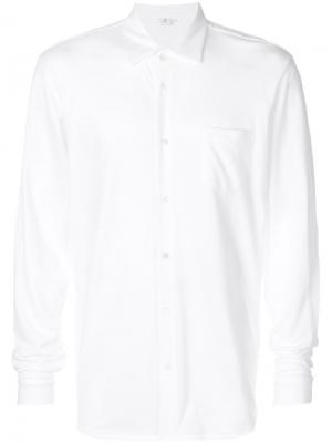 Классическая рубашка Sunspel. Цвет: белый