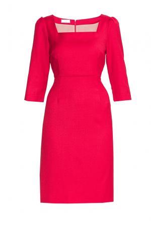 Платье из шерсти 173147 Villa Turgenev. Цвет: красный
