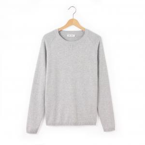 Пуловер с длинными рукавами, 10-16 лет R édition. Цвет: серый,черный