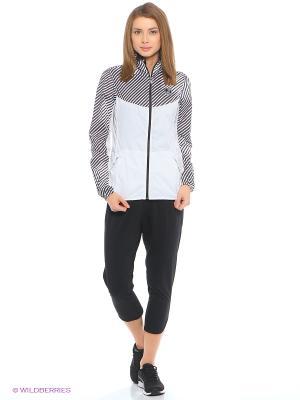 Ветровка Graphic Woven Jacket W Puma. Цвет: белый, черный